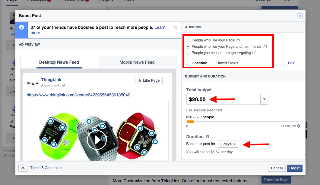 how to stop boosting a post on facebook
